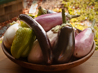Eggplants & Peppers