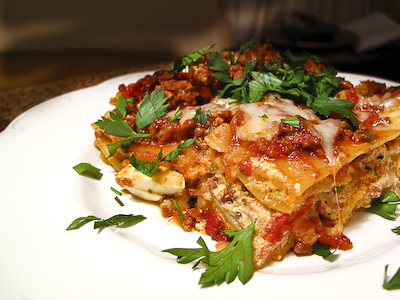 Skip's grandmother Carmelina's lasagne